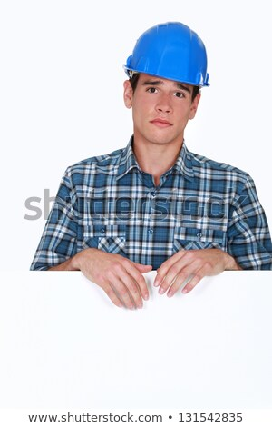 portrait of young blue collar posing behind copyspace Stock photo © photography33