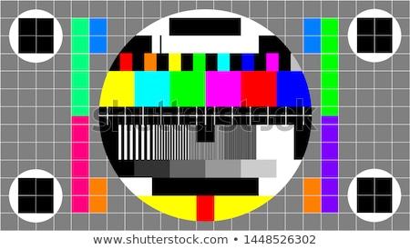 Szín rácsok öreg televízió tapasz oszlop Stock fotó © Stocksnapper