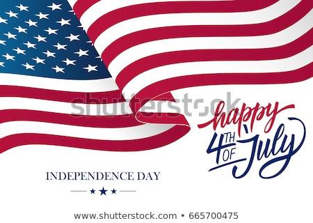 nap · Egyesült · Államok · negyedike · egyszerű · ikonok · vektor - stock fotó © pinnacleanimates