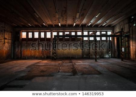 elhagyatott · ipari · épület · kék · ég · fölött · városi - stock fotó © photography33