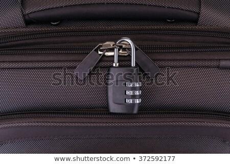 Walizkę zamek szyfrowy makro podróży worek odizolowany Zdjęcia stock © milsiart