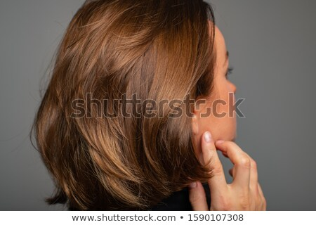 woman with brunette bob Stock photo © lubavnel