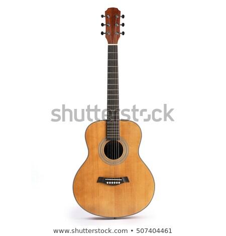 Klasik gitar detay İspanyolca ahşap güzellik Stok fotoğraf © tomistajduhar