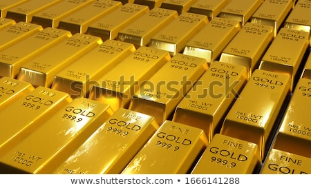 Stock photo: Gold bar close-up