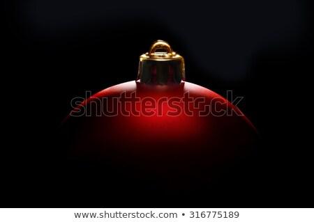 Natal bola tenso luz vermelho preto Foto stock © Rob_Stark