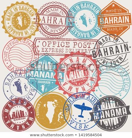 Vektör etiket Bahreyn renk damga satış Stok fotoğraf © perysty