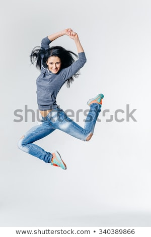 modern style dancer posing on tiptoes Stock photo © feedough
