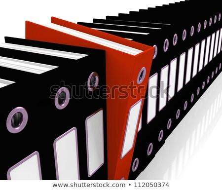 Piros akta fekete iroda szervezett Stock fotó © stuartmiles