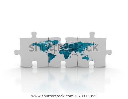 3d global puzzle stock photo © macropixel