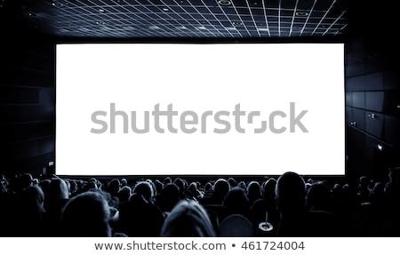 Mozi emberek képernyő piros szín konzerv Stock fotó © experimental