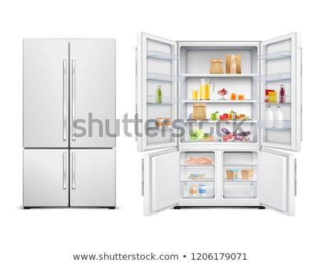 2 ドア 冷凍庫 黒 白 パス ストックフォト © ozaiachin