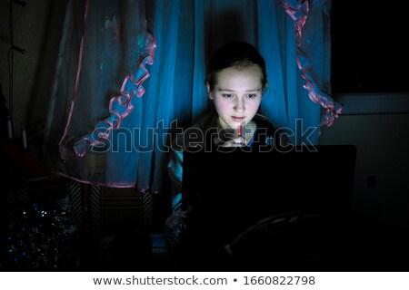少女 座って 表 アトラス 手 オフィス ストックフォト © pzaxe
