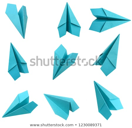blue origami plane Stock photo © shutswis
