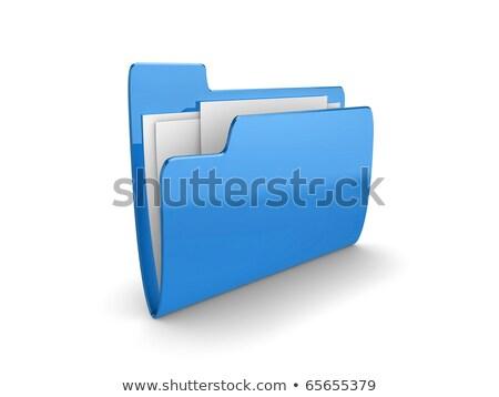 Illustration of a blue folder containing documents Stock photo © shutswis