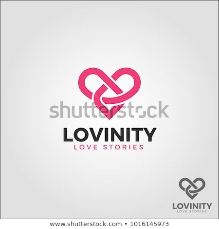 heart shaped infinity sign, vector Stock photo © beaubelle