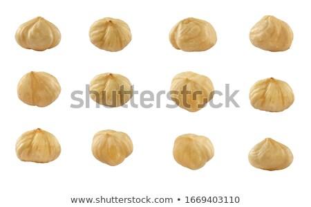 Two brown hazelnuts Stock photo © BSANI