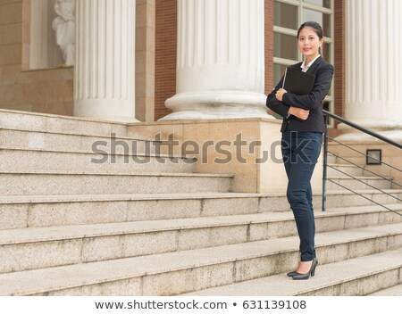 Elegant woman giving explanations Stock photo © photography33