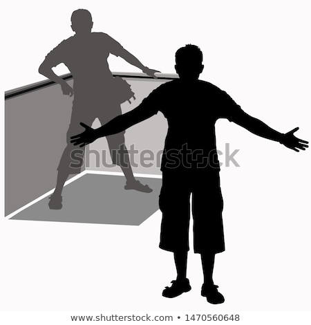 isolated black man getting ready to dance stock photo © get4net