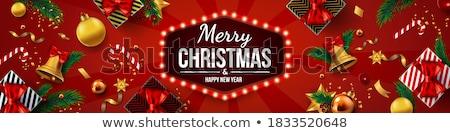 クリスマス バナー ベクトル テクスチャ 幸せ ストックフォト © carodi