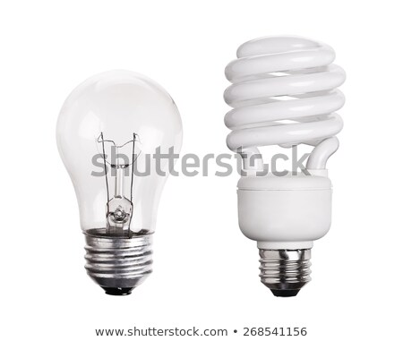 old light bulb vs energy saving stock photo © pcanzo