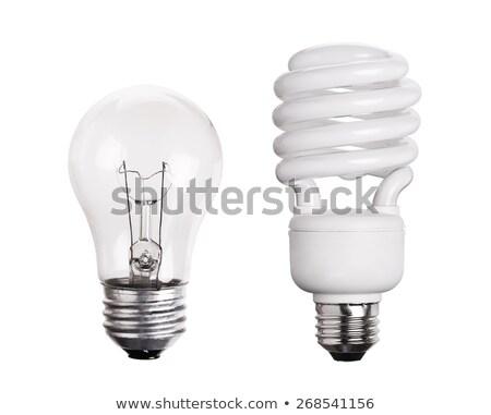 Foto stock: Edad · bombilla · vs · energía · ahorro · tradicional