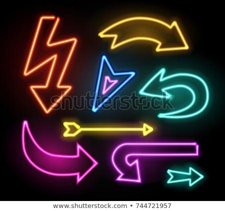 Arrow from neon light Stock photo © deyangeorgiev