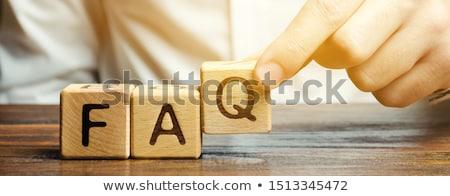 Foto stock: Faq · freqüentemente · perguntas · isolado · branco · educação