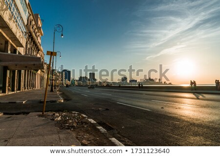 La · Habana · horizonte · Cuba · cielo · paisaje · mar - foto stock © haraldmuc