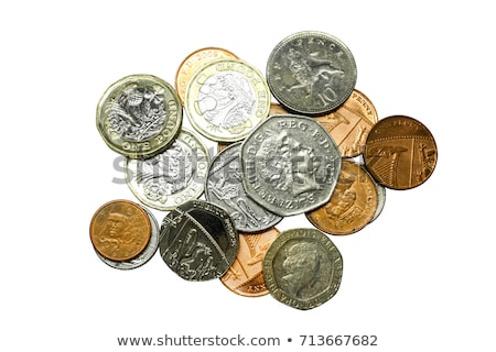 Lot of money! coins isolated on white background Stock photo © BrunoWeltmann