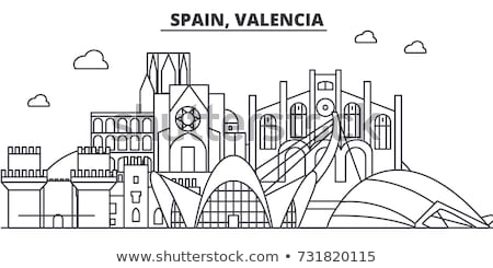 Historische architectuur Valencia centrum Spanje hemel gebouw Stockfoto © Spectral