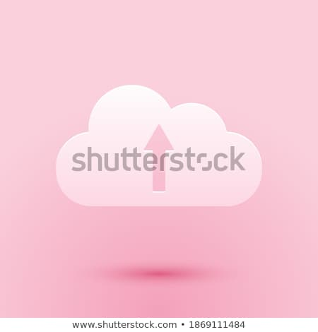Cloud computing pictogram on pink background Stock photo © seiksoon
