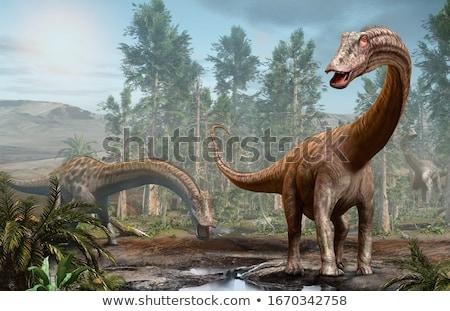 dinossauro · norte · américa · 3d · render · branco - foto stock © AlienCat