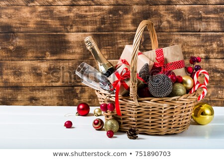 natal · cesta · completo · presentes · cartão · apresentar - foto stock © artlover