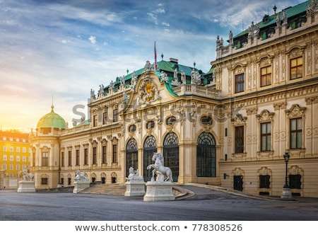 szobor · palota · kert · Bécs · Ausztria · város - stock fotó © andreykr
