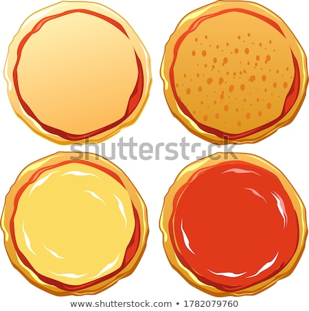 italiano · pizza · tocino · salami · mozzarella · queso - foto stock © shutswis