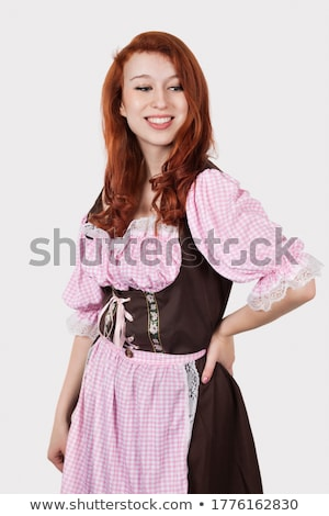 かわいい · メイド · 手袋 · 女性 · クリーナー · 幸せ - ストックフォト © acidgrey
