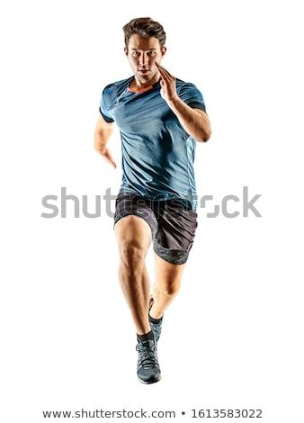 lopen · joggers · groep · mensen · silhouetten · fitness · groep - stockfoto © koqcreative