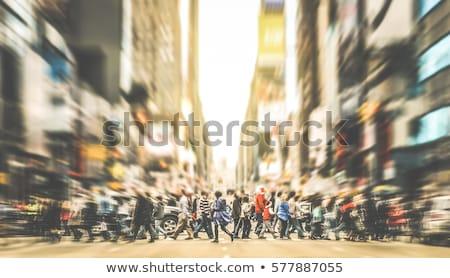 people walking in a pedestrian area  Stock photo © meinzahn