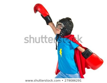 portré · fiú · szuperhős · fehér · gyermek · férfi - stock fotó © wavebreak_media