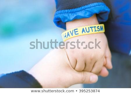 Közelkép tudatosság szalag autizmus copy space Stock fotó © wavebreak_media