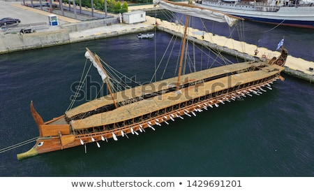 trireme, ancient Greek warship Stock photo © PixelsAway