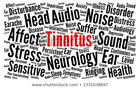 Deafness. The Wordcloud Medical Concept. Stock photo © tashatuvango