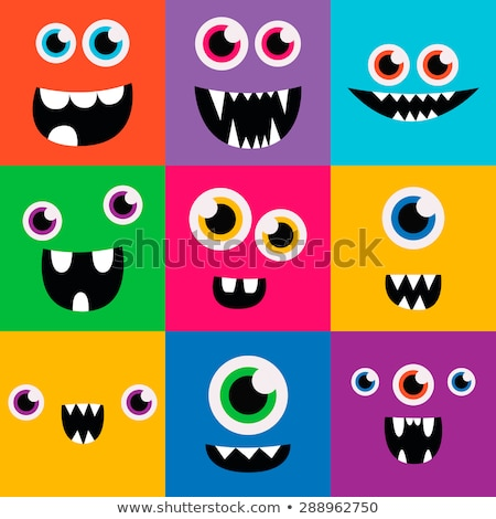 Avatar monster iconen gezicht man hoofd Stockfoto © carbouval