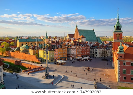 Varsó · óváros · házak · Lengyelország · templom · utazás - stock fotó © fer737ng