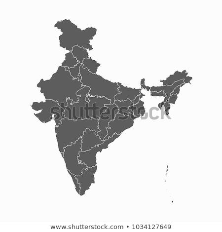 индийской · вектора · карта · Индия · флаг · аннотация - Сток-фото © vectomart