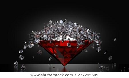 belle · diamants · relevant · 3D · noir · mode - photo stock © 123dartist