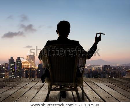 sentado · sudeste · Asia · empresario · atractivo - foto stock © szefei