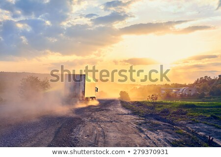 truck on the road with colorful cars transport stock photo © lunamarina