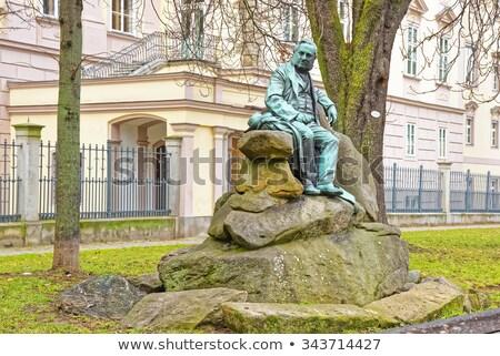 Statua Austria noto scrittore verde pietra Foto d'archivio © Bertl123