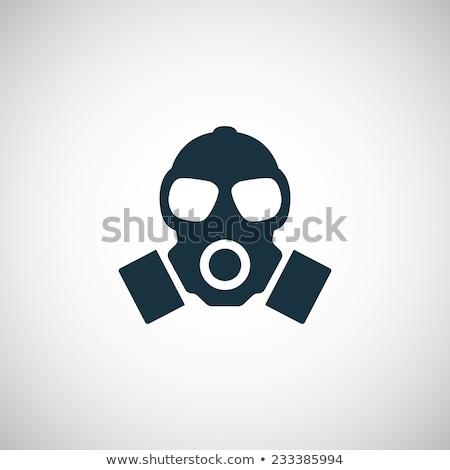 gaz · maskesi · beyaz · eps · 10 · dizayn · siyah - stok fotoğraf © zzve